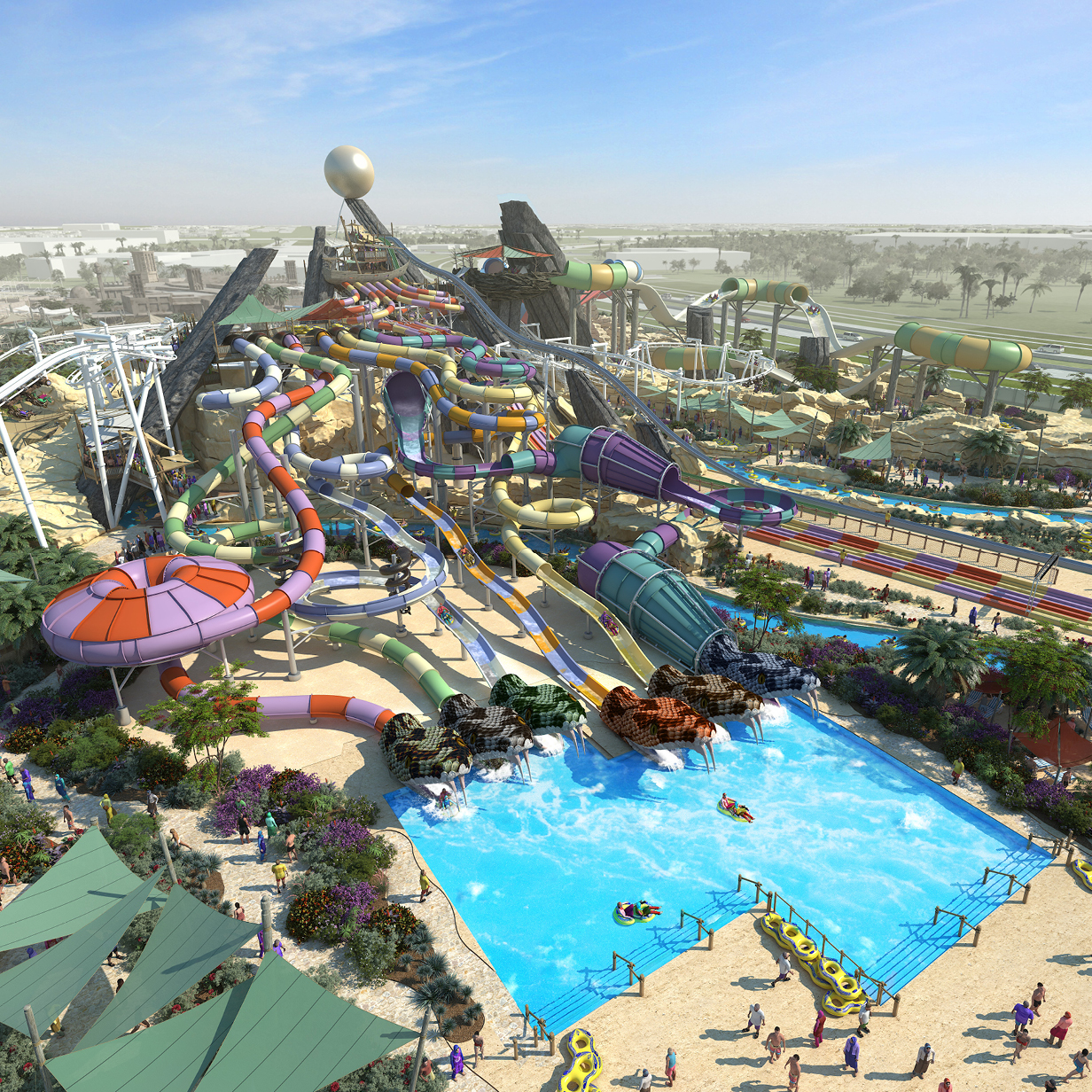 Yas Water World Attraction