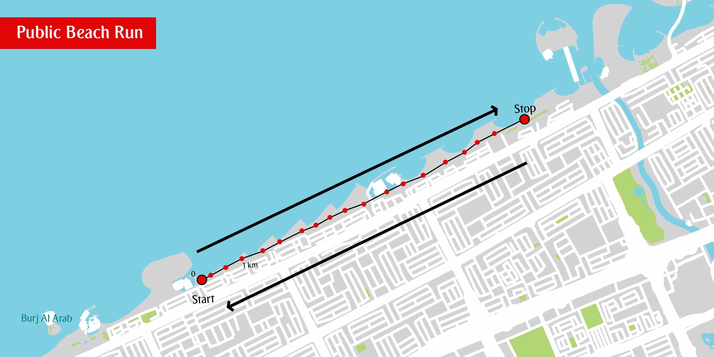 Map of Beach Run