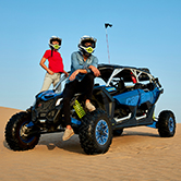Evening Desert Dune Buggies in Dubai