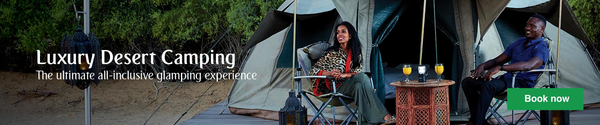 Luxury Desert Camping in Dubai Desert Conservation Reserve