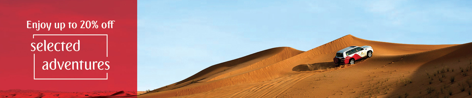 20% off on Desert Adventures