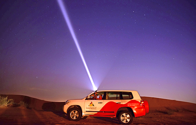 Night Desert Safari in Dubai Private Vehicle